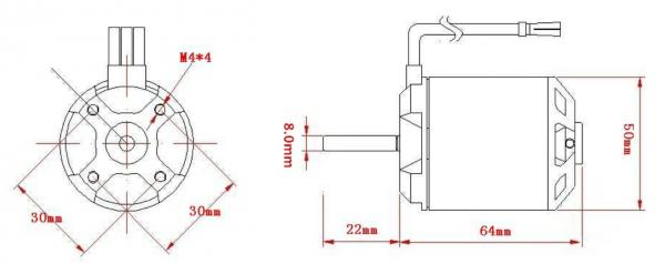 APS Brushless Outrunner Motor 5065 220KV mit Sensor