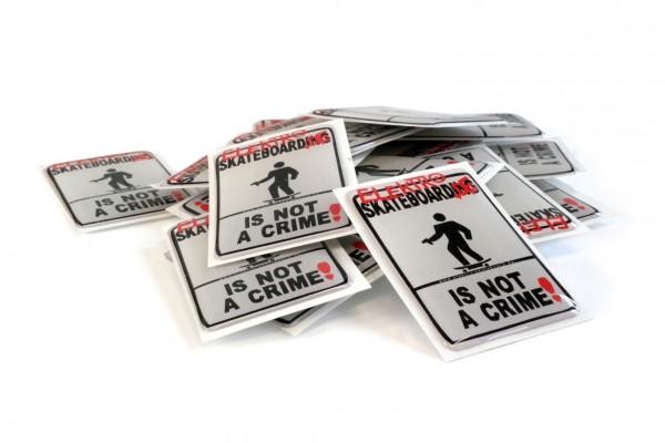 Sticker: not a crime 3D GEL Doming