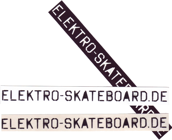 Sticker: ELEKTRO-SKATEBOARD.DE