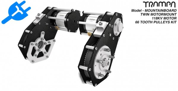 Trampa Mountainboard Twin Motorhalterung inkl. Motoren