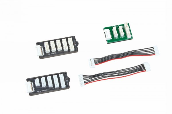 Balanceradapter Set PQ/TP/XH-Graupner, 2 - 6 Zellen