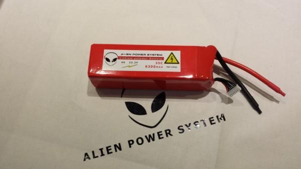 Alien 6S 6300mah 35C LiPo Akku
