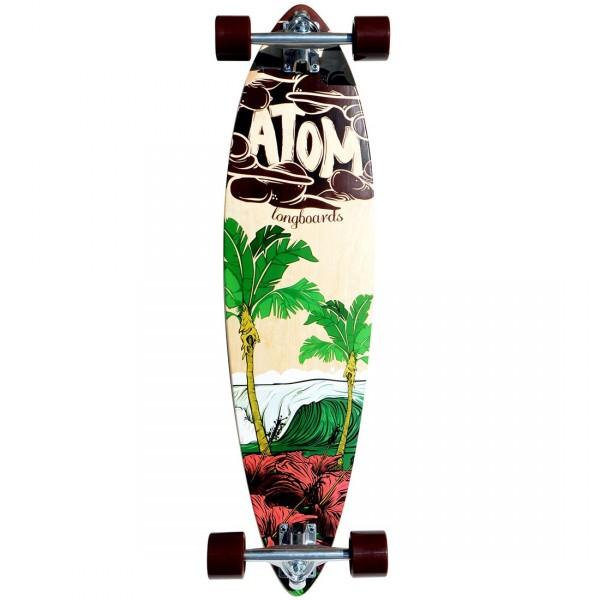 "Atom 34"" Pintail Surf Longboard"