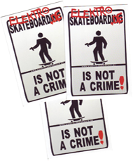Sticker: not a crime Street