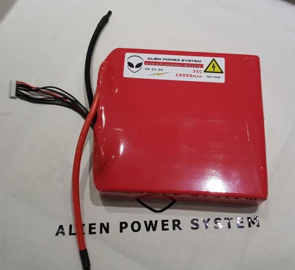 APS 6S 16000mAh 35C LiPo Akku - Flachbauweise